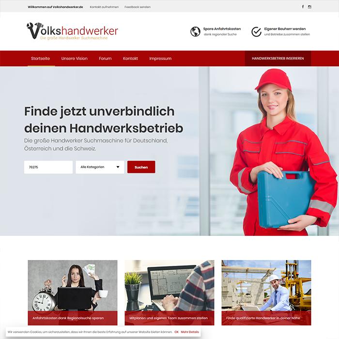 Handwerker Webseiten