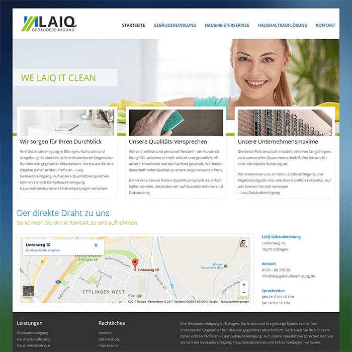 Webseiten für Gebäudereinigung